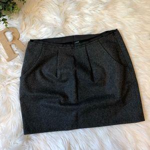 J.Crew Women's Gray Wool Pencil Skirt Size 4